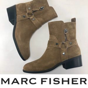 NEW🌟MARC FISHER suede moto boots FIRM💓